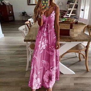 Dresses & Skirts - nip Pink/White Floral Maxi Dress L